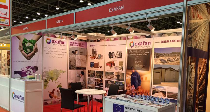 EXAFAN in the AGRAME Exhibition 2015 held in DUBAI.